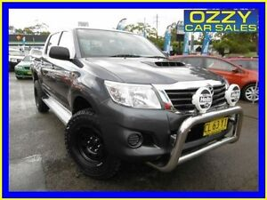 2014 Toyota Hilux KUN26R MY14 SR (4x4) Grey 5 Speed Automatic Dual Cab Pick-up Penrith Penrith Area Preview