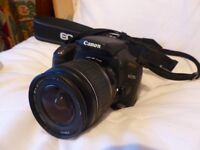 Canon EOS 350D camera with tripod and case. Never been used