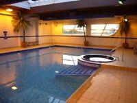 LUXURY 2 BED 2 BATH APT WITH POOL, TENNIS CRT, GYM, SAUNA, JACUZZI, 24 HR CONCIERGE & SECURE PARKING