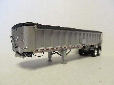 DCP 1/64 SCALE EAST END DUMP TRAILER WITH SILVER SIDES, SILVER FRAME, BLACK TARP