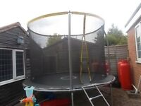 Large Trampoline sportex with outdoor cover & ladder