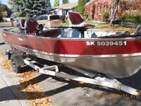 16 ft Lund with 25hp Yamaha