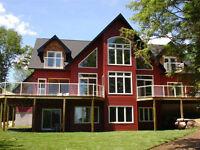 Winter Rentals-Beautiful Six bedroom lakefront cottage for rent