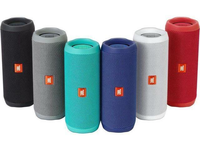 Купить JBL Flip 4 - JBL Flip 4 Waterproof Wireless Portable Bluetooth Speaker - SplashProof Blue
