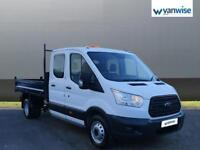 2015 Ford Transit 2.2 TDCi 100ps Double Cab Chassis Diesel white Manual