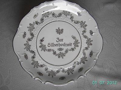 """Alter Kuchen-  oder Obstteller """"Zur Silberhochzeit"""""""