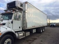 Used insulated truck body, carrier reefer unit, rail tailgate