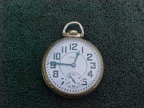Waltham Premier 21J RR Railroad Pocket Watch 16S Yellow 10K Rolled Gold Plate