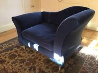 Blue sofa chair for sale