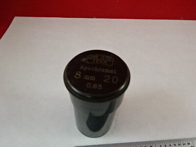 Empty Antique Microscope Objective Container Carl Zeiss Apochromat As Is N5-a-30