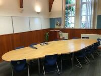Solid Wood Top Boardroom/Meeting/Office/Conference Table seats up to 18