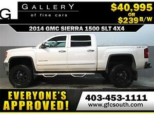 2014 GMC SIERRA SLT LIFTED *EVERYONE APPROVED* $0 DOWN $239/BW!