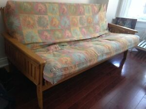 Moving Sale - low prices! Great Futon, Bookcase, Couch, Chair!