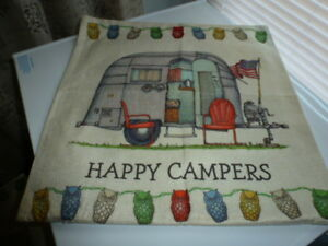 RV RELATED HAPPY CAMPER PILLOWS