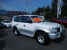 2001 Toyota Landcruiser Prado KZJ95R GXL (4x4) White 5 Speed Manual 4x4 Wagon Waratah Newcastle Area Preview