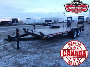 14K - 20' CONSTRUCTION/EQUIPMENT HAULER BY CANADA TRAILERS