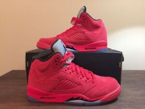 Jordan 5 red suede mens size 11.5