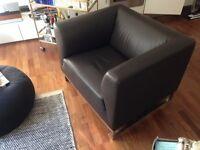 LUXURIOUS Brown Armchair
