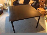 Black Ikea square table