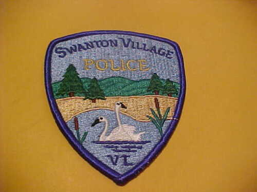 SWANTON VILLAGE VERMONT POLICE ISSUE PATCH NEW SHOULDER SIZE