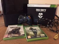 Xbox 360 E with COD Ghosts Prestige Edition, COD AW, COD MW & Wired Controller