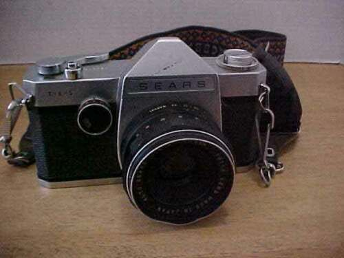 Vintage Sears TLS 35mm SLR Camera with Auto Sears 1:2.8 55mm Lens