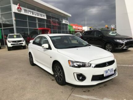 2017 Mitsubishi Lancer CF MY17 ES Sport White 6 Speed Constant Variable Sedan Hoppers Crossing Wyndham Area Preview