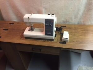 Kenmore Sewing Machine in Cabinet & Desk Chair