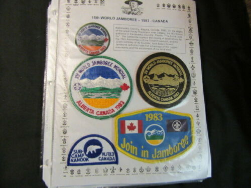 1983 World Jamboree Patch Collection