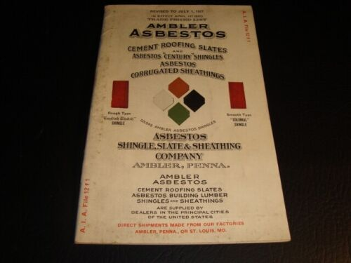 Circa 1920s Ambler Asbestos Roofing Catalog, Pennsylvania