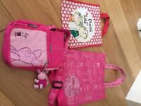 3 Children's bags - Barbie, Charlie & Lola and Piglet bags
