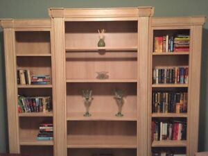 Beautiful matching 3 pieces-wall unit/coffee table/end table