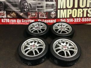 JDM HONDA ACURA RSX OEM DC5 SILVER MAGS WITH TIRES FOR SALE
