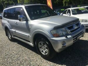 2003 Mitsubishi Pajero NP Exceed Silver 5 Speed Sports Automatic Wagon Jewells Lake Macquarie Area Preview