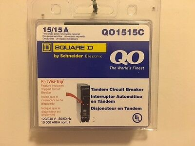 Square D Circuit Breaker Qo1515c 2p 15a New