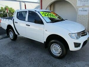 2011 Mitsubishi Triton MN MY11 GLX White 4 Speed Automatic Dual Cab Utility South Nowra Nowra-Bomaderry Preview
