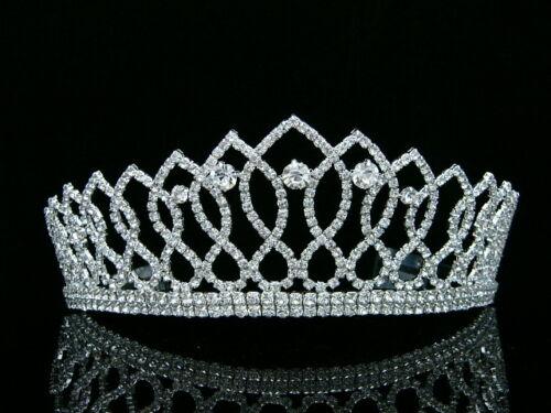Pageant Queen Rhinestone Crystals Bridal Wedding Prom Tia...