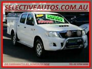 2013 Toyota Hilux KUN26R MY14 SR (4x4) White 5 Speed Automatic Cab Chassis Homebush Strathfield Area Preview