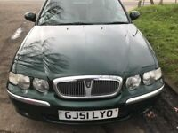 ROVER 45 EXCELLENT CONDITION ONE OWNER 57000 MILES DRIVES PERFECT NO FAULTS MOT TILL AUGUST