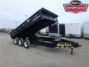 21K - 8 X 16 Deckover Dump Trailer -*FOLD DOWN SIDES!*- Tax In!