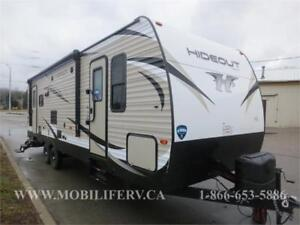 *2018 KEYSTONE HIDEOUT 26RLS TRAILER FOR SALE*COUPLES LAYOUT