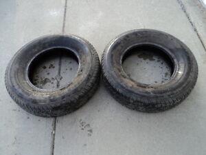 2 Motomaster all season Tires 215/75/15