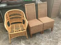Free Cane /Rattan Chairs as Per Image