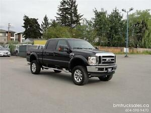 2009 FORD F-350 LARIAT CREW CAB SHORT BOX 4X4 LIFTED DIESEL