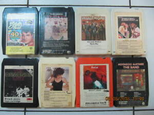 8 Classic Artists On 8 Track Tape: Elvis,Lennon, Cir 1970-80s