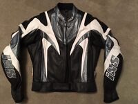 ** RELISTED FOR QUICK SALE ** Ladies IXS Leather Motor Cycle Jacket ** WORN ONCE** SIZE 38