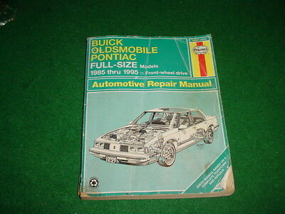 HAYNES 1985-1995 AUTO REPAIR MANUAL BUICK OLDSMOBILE PONTIAC FULL-SIZE MODELS
