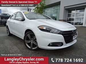 2016 Dodge Dart GT EX-DEMO! W/ 6-SPEED MANUAL, LEATHER & NAVI...