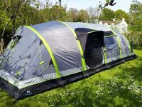 Hi Gear AIRGO Nimbus 8 inflatable family tent, also included footprint & carpet