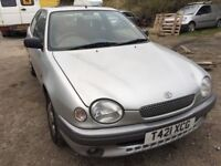 Toyota Corolla, starts and drives, MOT until May 2018, does export, exhaust hanging, car located in